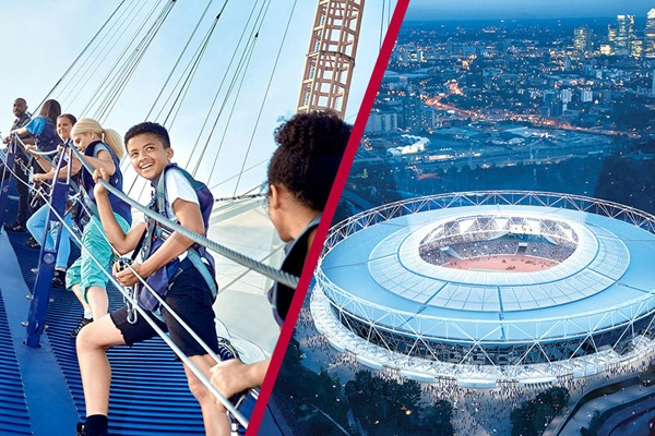 Up at the O2 Experience and London Stadium Tour for Two