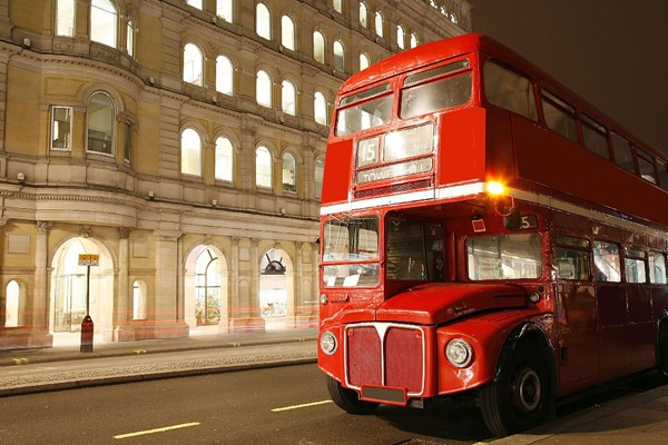 Vintage Bus Tour of London, Thames River Cruise and Fish and Chips for Two