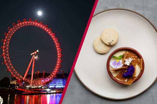Coca Cola London Eye and Bateaux Deluxe Dinner Cruise For Two