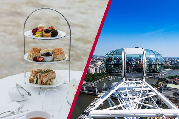 Coca Cola London Eye and Bateaux Afternoon Tea Cruise for Two