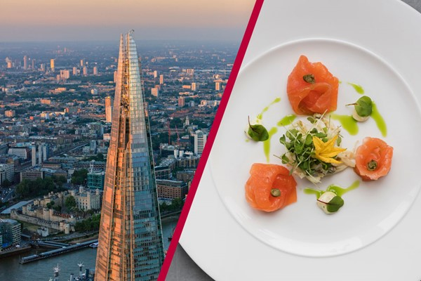 The View From The Shard And Bateaux Deluxe Dinner Cruise For Two