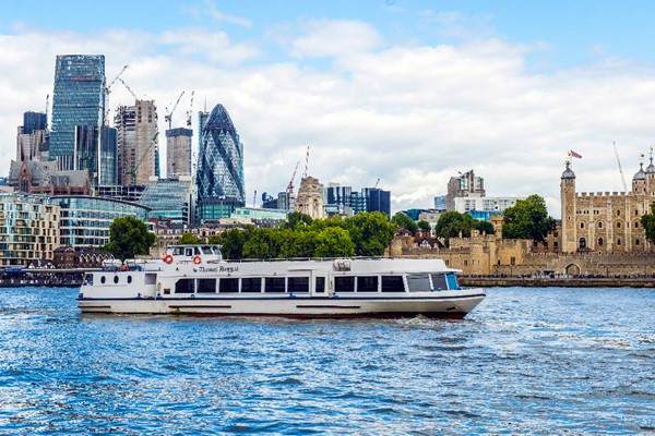 St Katharine to Thames Barrier or Vice Versa Boat Cruise Family Return