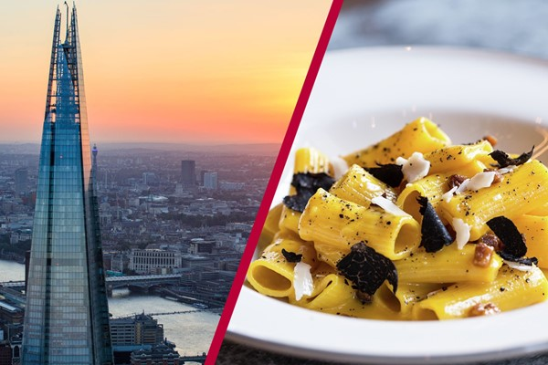 The View from The Shard and Meal for Two at Gordon Ramsay's Union Street Cafe