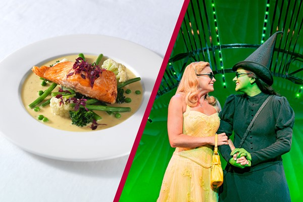 Theatre Tickets to Wicked The Musical and a Meal with Wine for Two at Prezzo