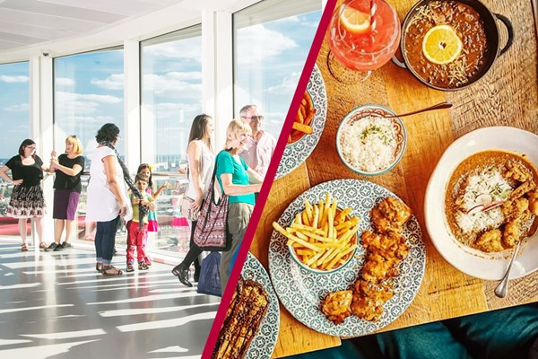 The ArcelorMittal Orbit Skyline View and Three Course Meal at Cabana for Two