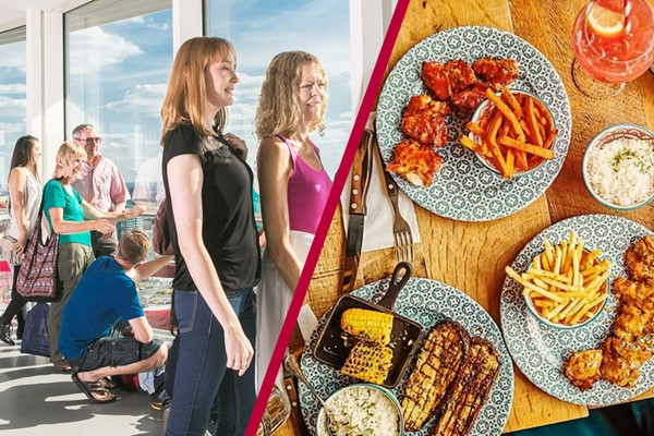Family Ticket to The ArcelorMittal Orbit Skyline View and Meal at Cabana