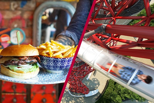 Buy The Slide at The ArcelorMittal Orbit and Three Course Meal at Cabana for Two