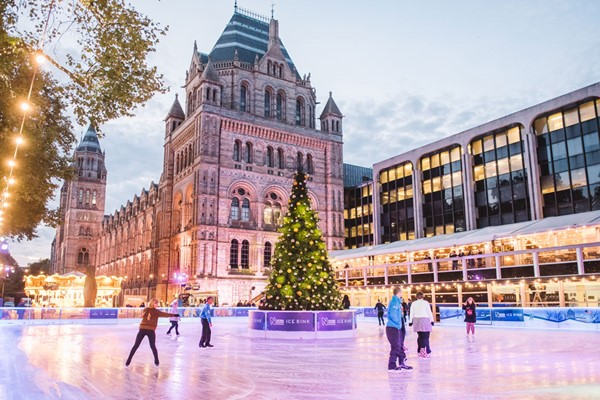 Christmas Ice Skating for Two at the Natural History Museum Ice Rink