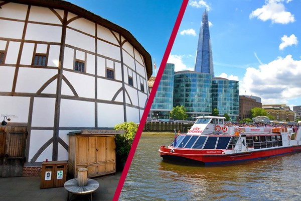 Shakespeare's Globe Guided Tour and Thames River Rover Cruise for Two
