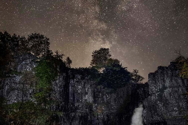 Stargazing at High Force Waterfall for Two