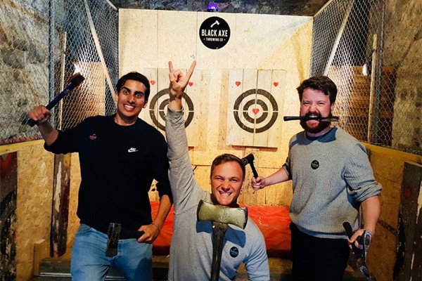 Axe Throwing for Four at Black Axe Throwing Co