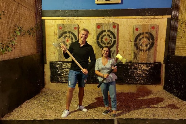 Axe Throwing for Two at Black Axe Throwing Co