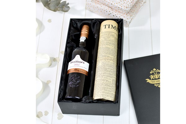 Graham's LBV Port and Newspaper in a Luxury Gift Box