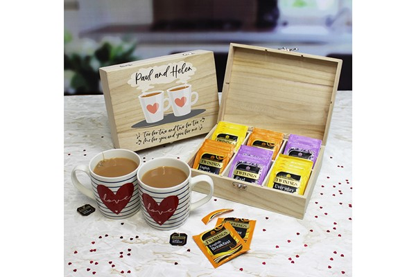 Tea for Two - Personalised English Teas Storage Box