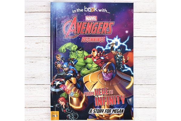 Avengers Beginnings from Here to Infinity Personalised Marvel Book