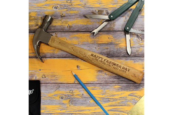 Personalised Draper Wooden Hammer