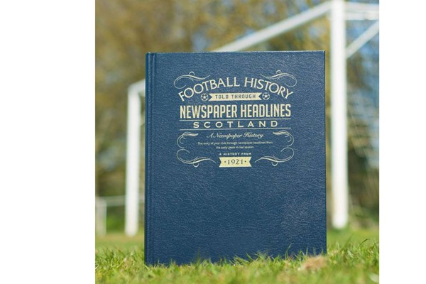 Personalised Scotland Football Newspaper Book