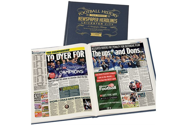 Personalised Leicester City Football Newspaper Book