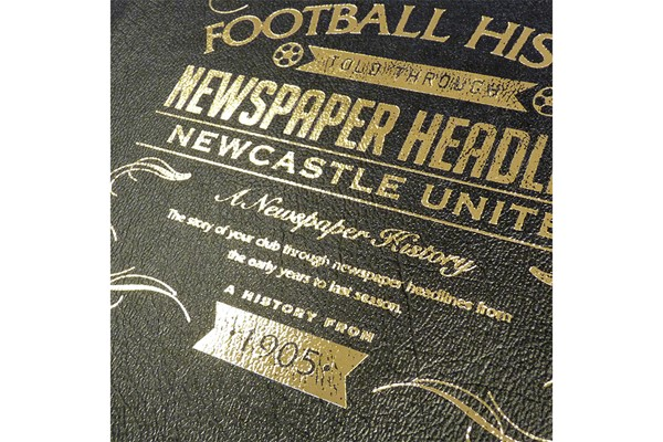 Personalised Newcastle United Football Newspaper Book