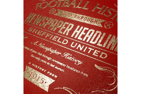 Personalised Sheffield United Football Newspaper Book