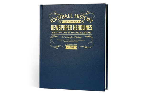 Personalised Brighton and Hove Albion Football Newspaper Book