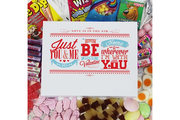 Personalised Be My Valentine Deluxe Sweet Box