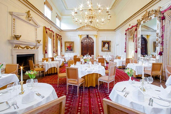 Three Course Dinner with Wine for Two at Hintlesham Hall Hotel