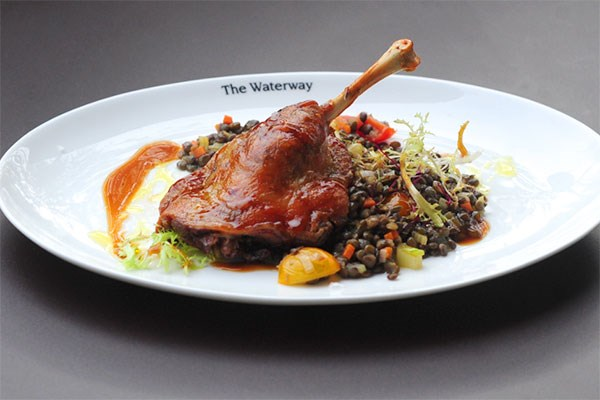 Three Course Meal with Glass of Wine for Two at The Waterway