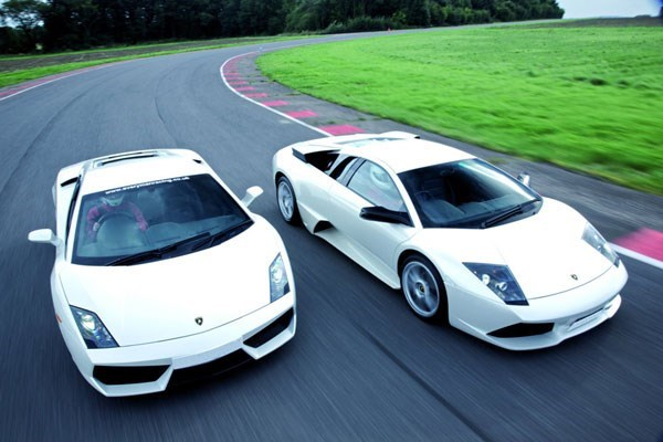 Lamborghini and Aston Martin Driving Blast