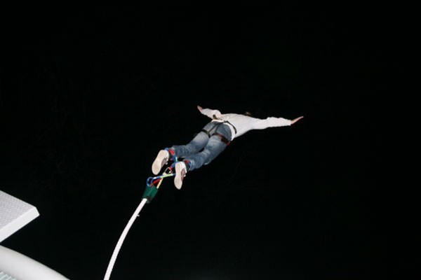 Night-time Bungee Jump in Scotland