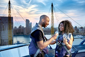 Up At The O2 Climb With A Glass Of Champagne For Two