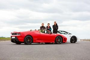 Ferrari And Lamborghini Driving Blast For One