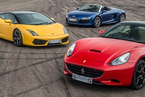 Triple Supercar Driving Blast with Free High Speed Passenger Ride - Special Offer