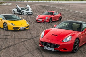 Four Supercar Driving Blast with Free High Speed Passenger Ride - Special Offer