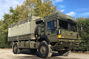 Military Vehicle Off Road Driving In A MAN SV HX60