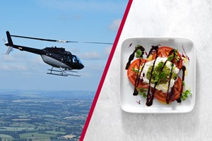 Buy 12 Mile Helicopter Tour with Bubbly and a Three Course Meal with Wine at Prezzo for Two