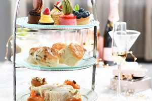 Afternoon Tea for Two with a Glass of Prosecco at Caffe Concerto