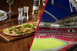 Buy Wembley Stadium Tour with Three Course Meal and a Glass of Wine at Prezzo for Two