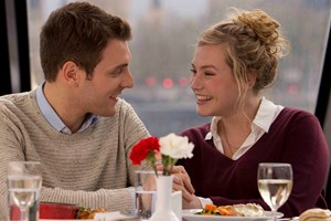 Two Course Lunch and Sightseeing Cruise on the Thames for Two