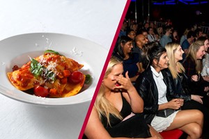 Buy Comedy Tickets and Three Course Meal and Glass of Wine for Two at Prezzo