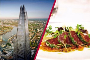 The View From The Shard With Three Course MICHELIN Dining And Bubbles For Two