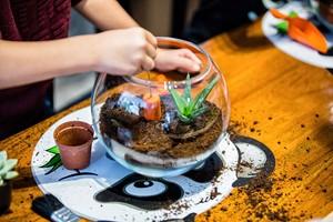 Terrarium Workshop For Two Children At Porto's Flowers