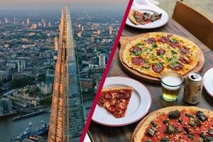 Buy The View from The Shard with Bottomless Pizza at Gordon Ramsay's Street Pizza in London for Two