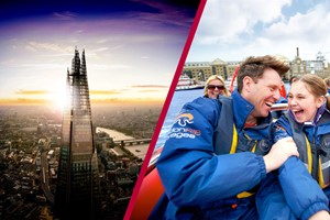Highest Fastest! River Thames High Speed Boat Ride & The View From The Shard For Two