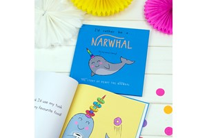 Personalised I'd Rather Be A Narwhal Storybook