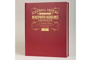 Personalised Aberdeen Football Newspaper Book
