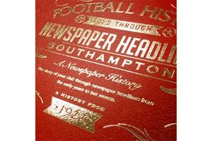 Personalised Southampton Football Newspaper Book