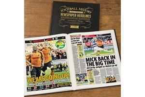 Personalised Wolves Football Newspaper Book