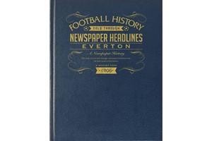 Everton Football Newspaper Book