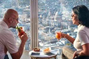 The View From The Shard With A Cocktail For Two